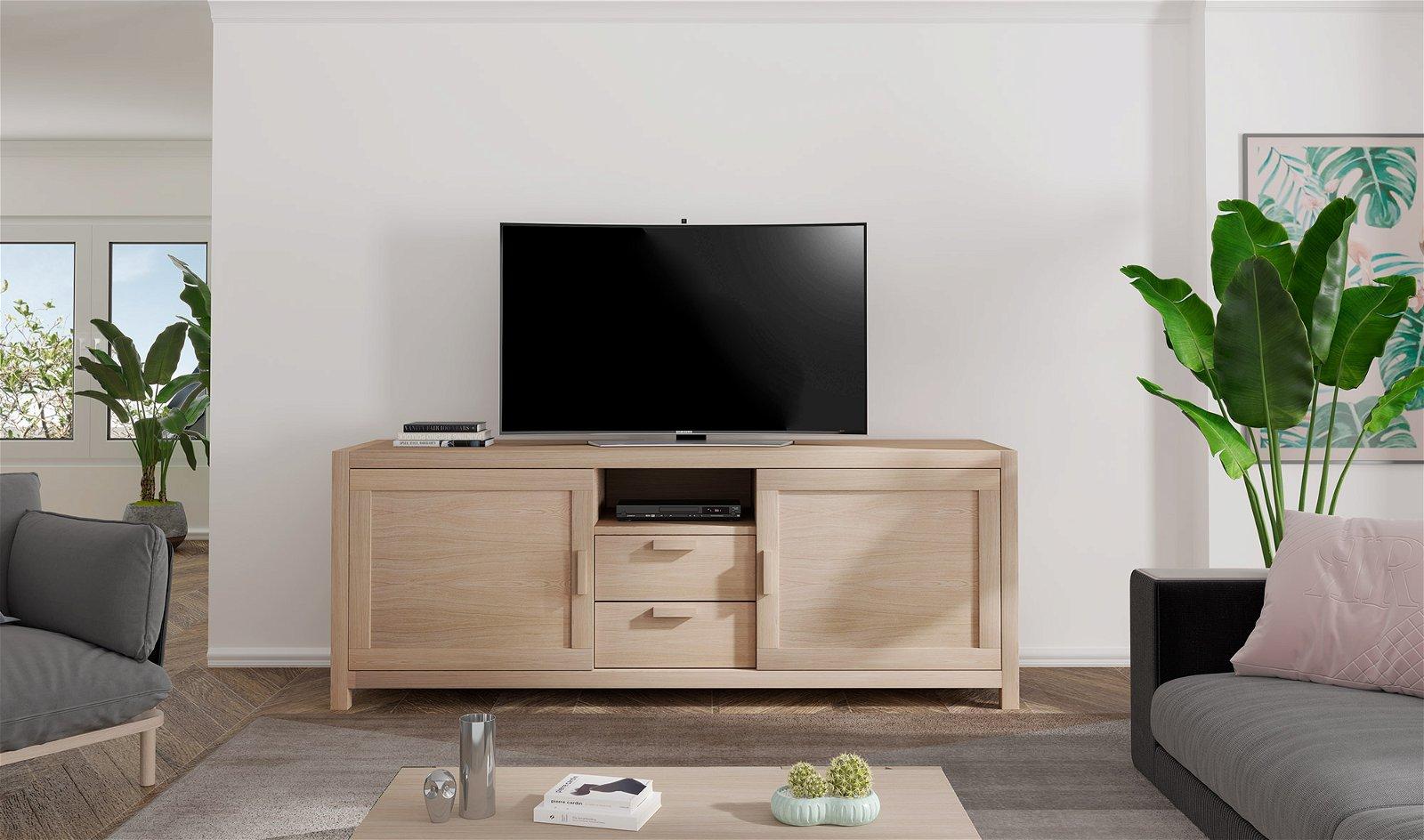 PORTOBELLO mueble tv roble 2 puertas 1 cajón