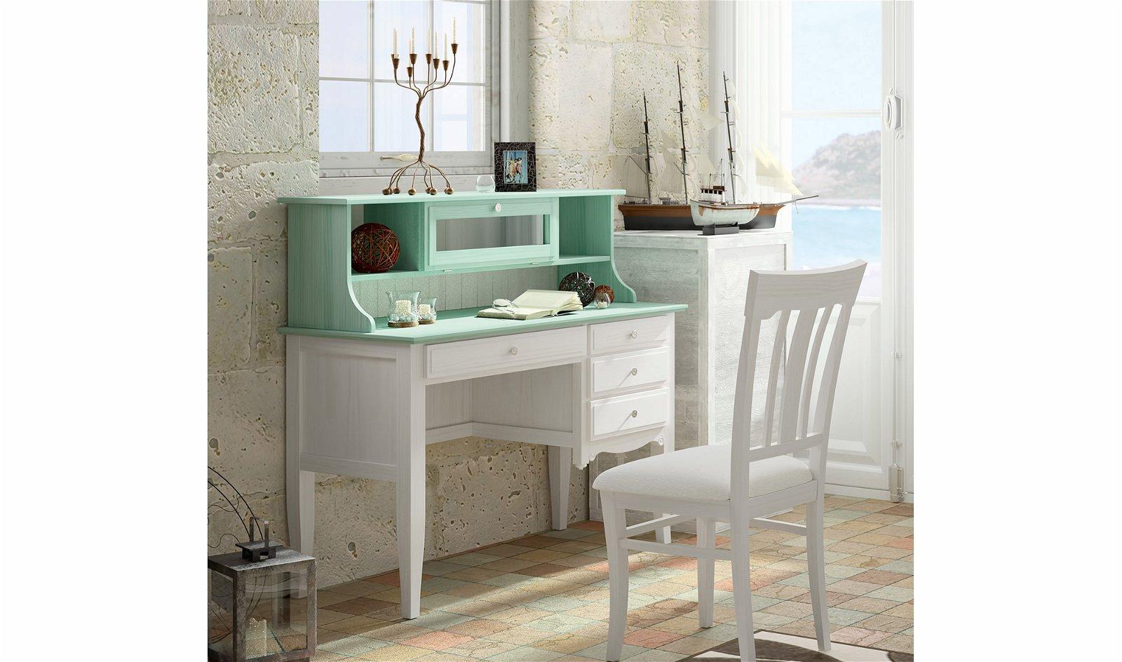 Mesa de escritorio 4 cajones vintage provenzal Fontana