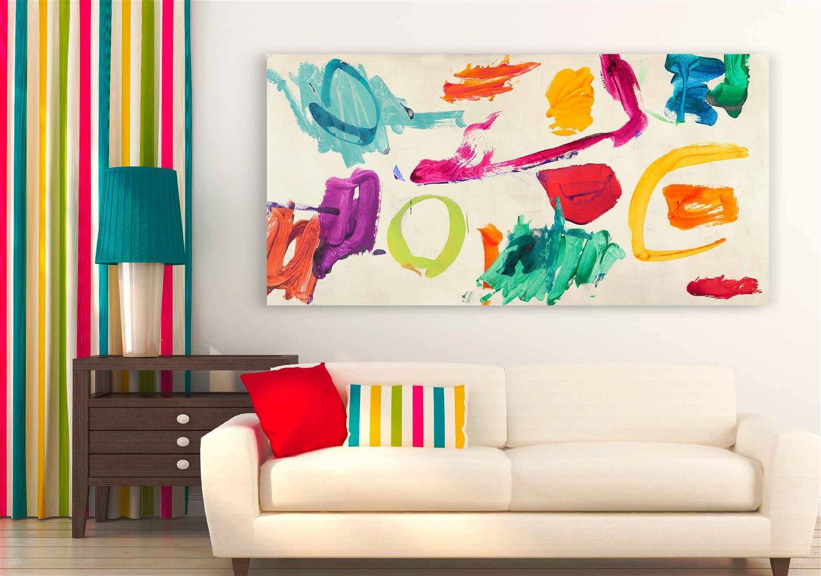 Cuadro canvas abstracto juego de ni�os