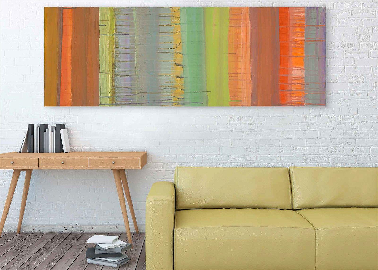 Cuadro canvas abstracto tropical