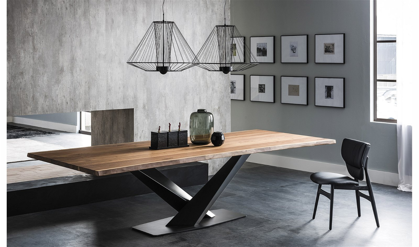 Mesa de comedor madera Stratos Cattelan