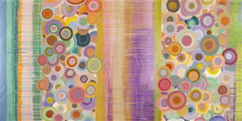 Cuadro canvas abstracto primavera pop