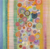 Cuadro canvas abstracto primavera pop I