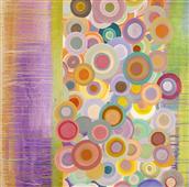Cuadro canvas abstracto primavera pop II