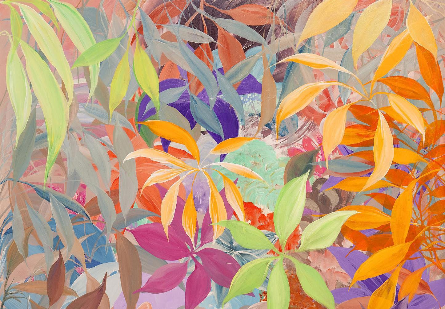 Cuadro canvas abstracto jungla de color