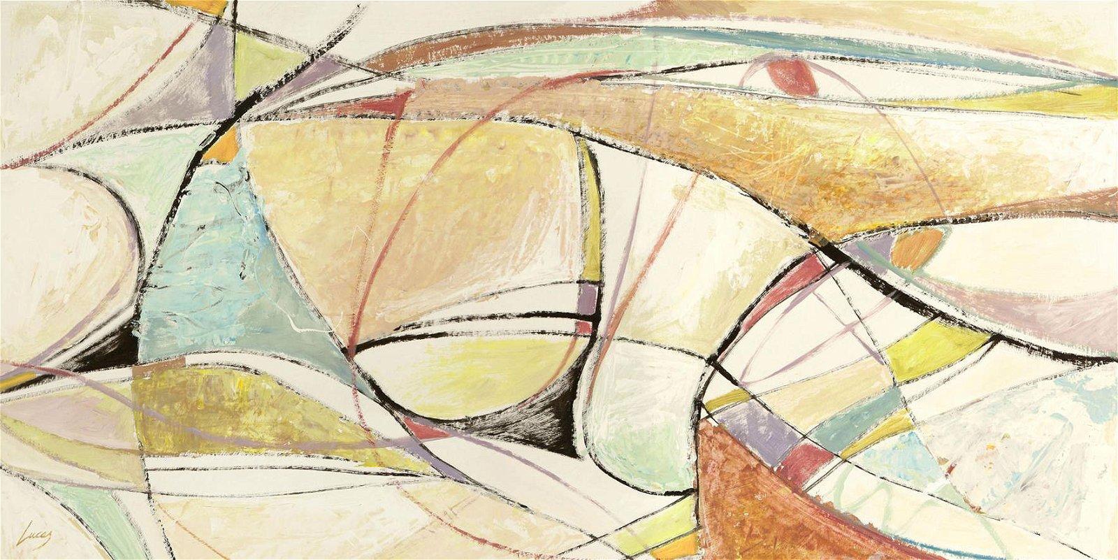 Cuadro canvas abstracto notas musicales
