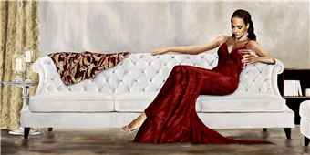 Cuadro canvas figurativo belleza de gala