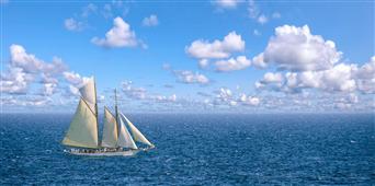 Cuadro canvas fotografia navegando en el oceano