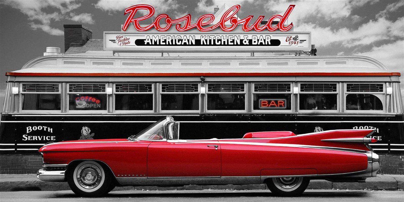 Cuadro canvas fotografia vintage beauty and diner