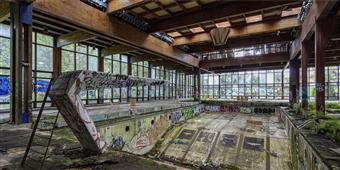 Cuadro canvas fotografia richard berenholtz piscin
