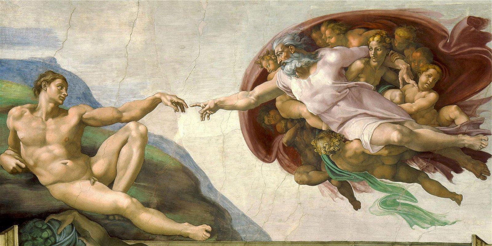 Cuadro canvas museo la creacion de michelangelo