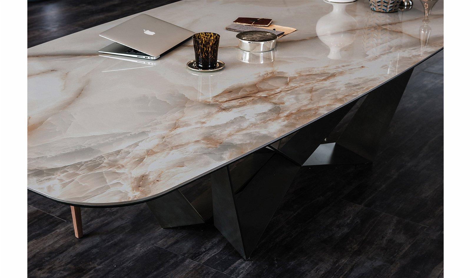 Mesa de comedor Skorpio Keramik Alabastro Cattelan