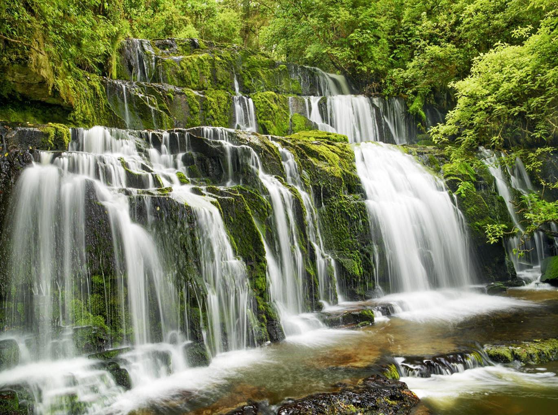 Cuadro canvas fotografia cascada purakaunui falls