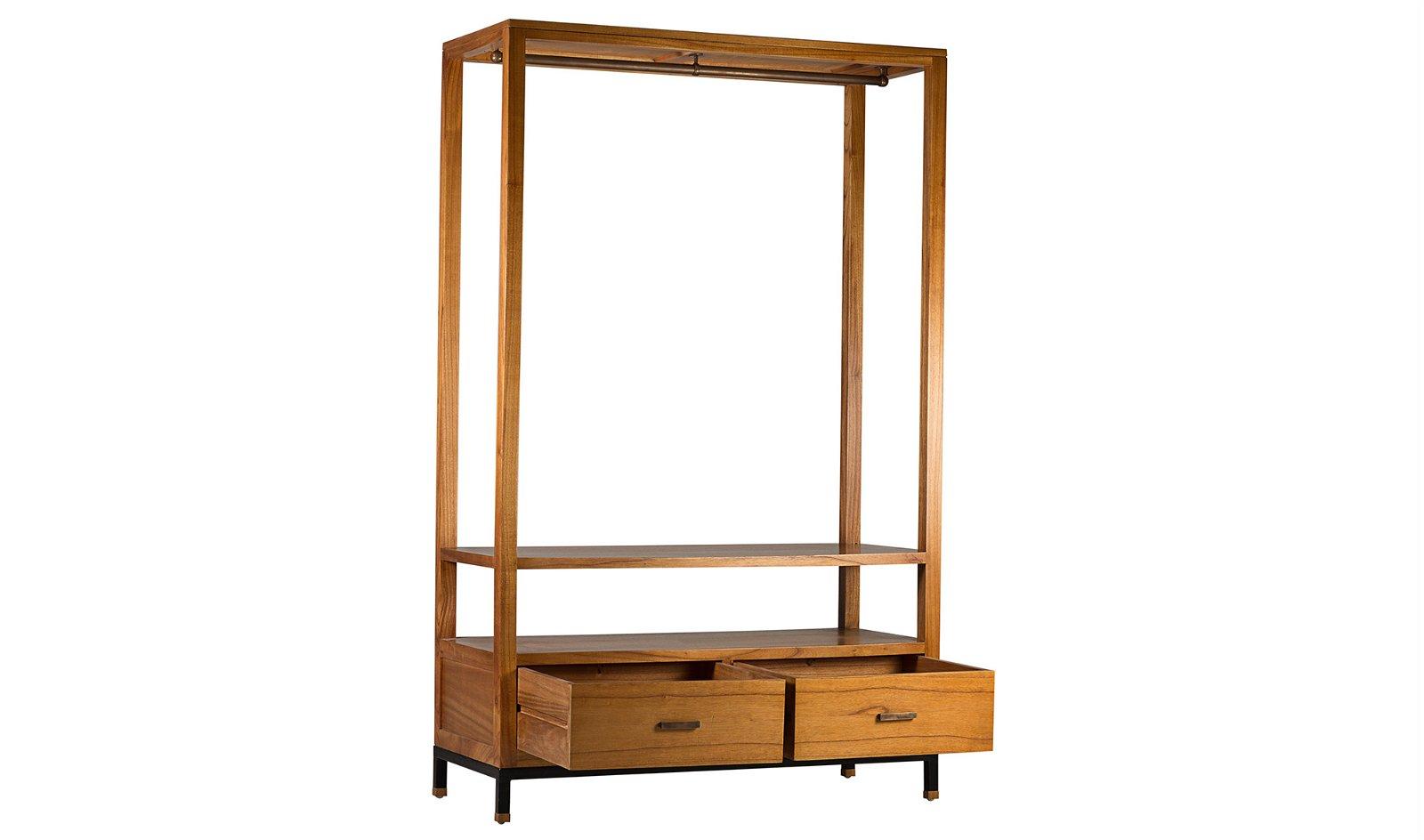 Mueble auxiliar colgador 2 cajones industrial Madhu