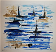 Cuadro pintura original up in the skyes