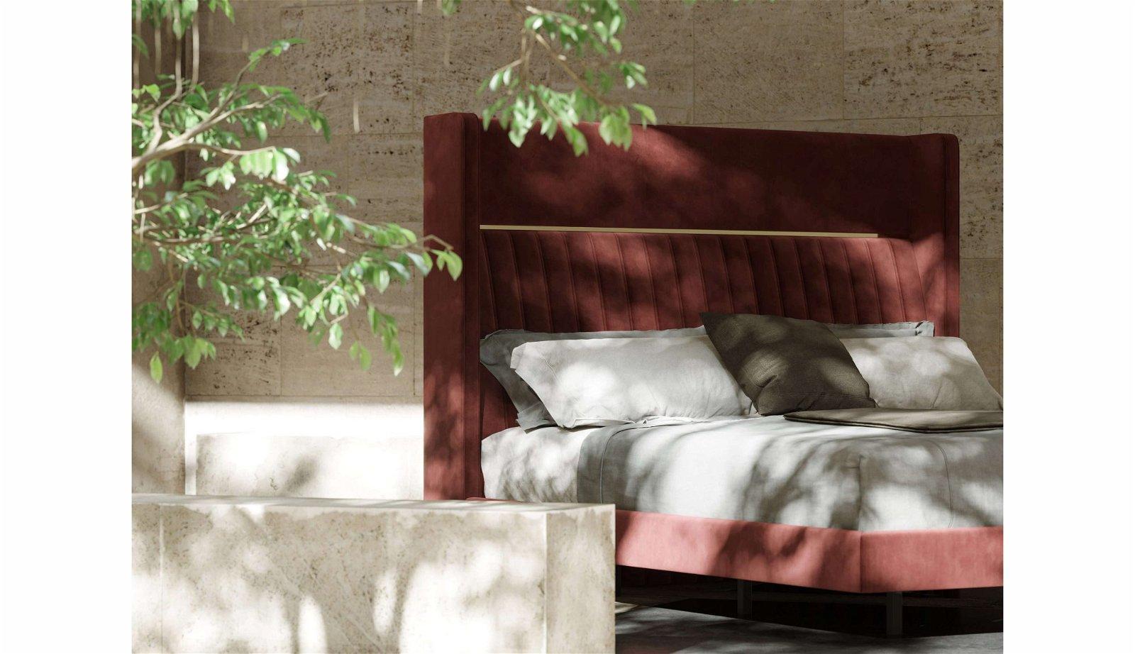 Cama tapizada de diseño Bardot