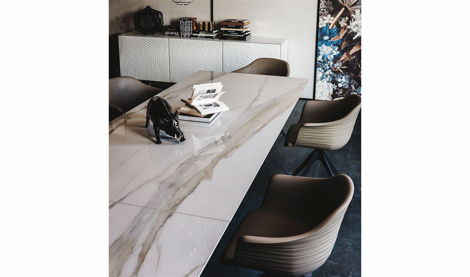 Mesa de comedor extensible Premier Keramik Drive Cattelan