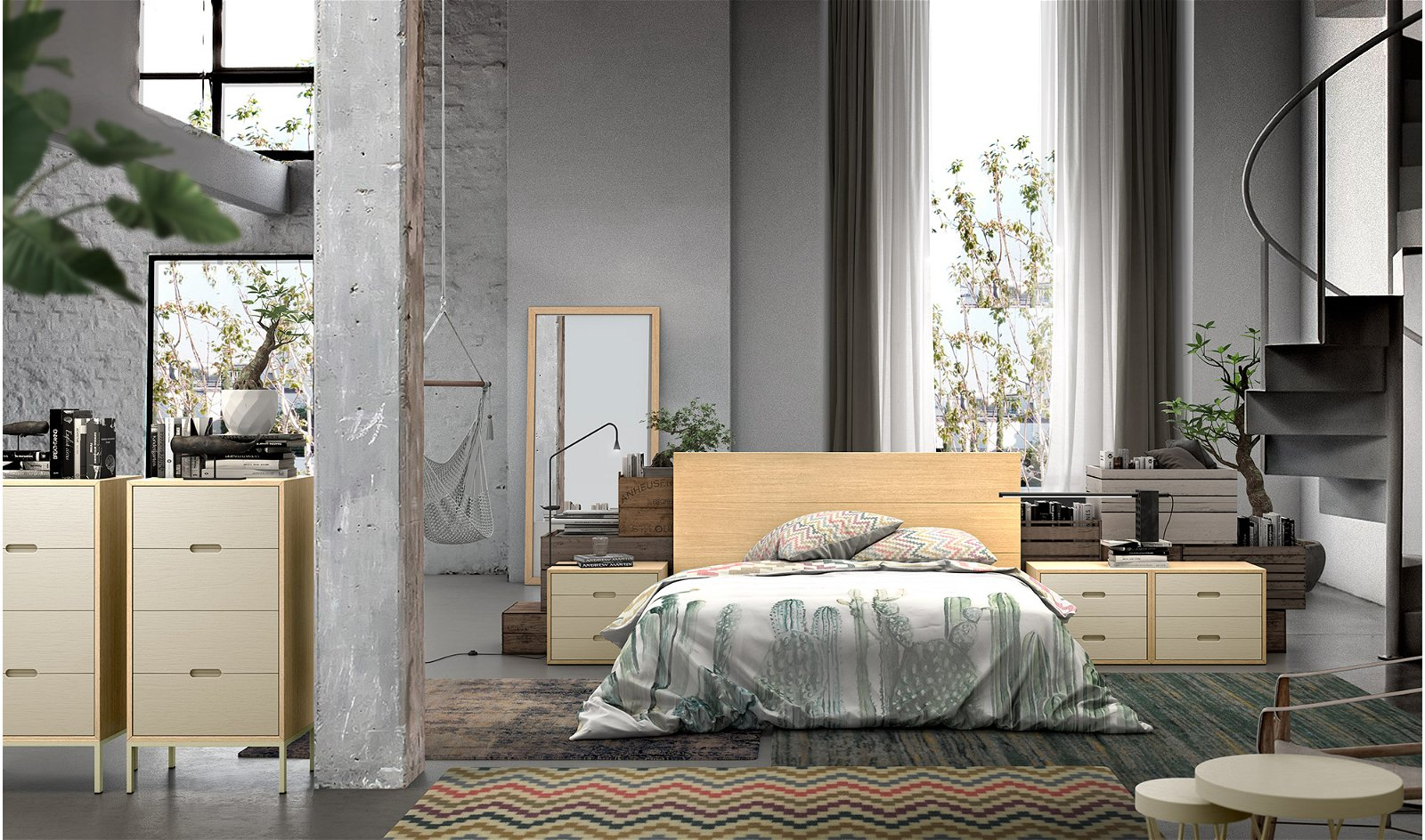 Dormitorio industrial Loft II