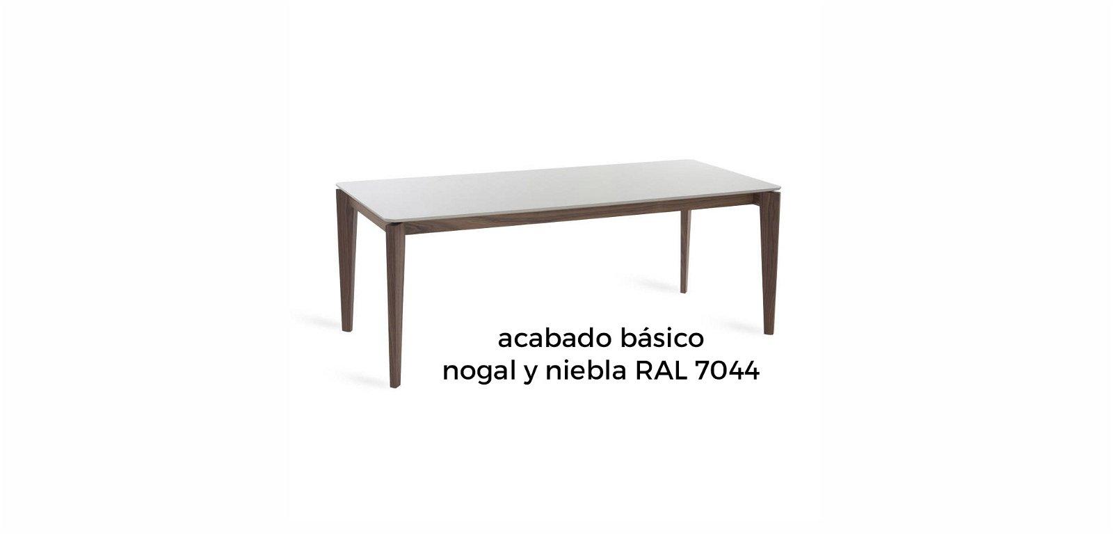 Mesa de comedor nogal y laca Jara