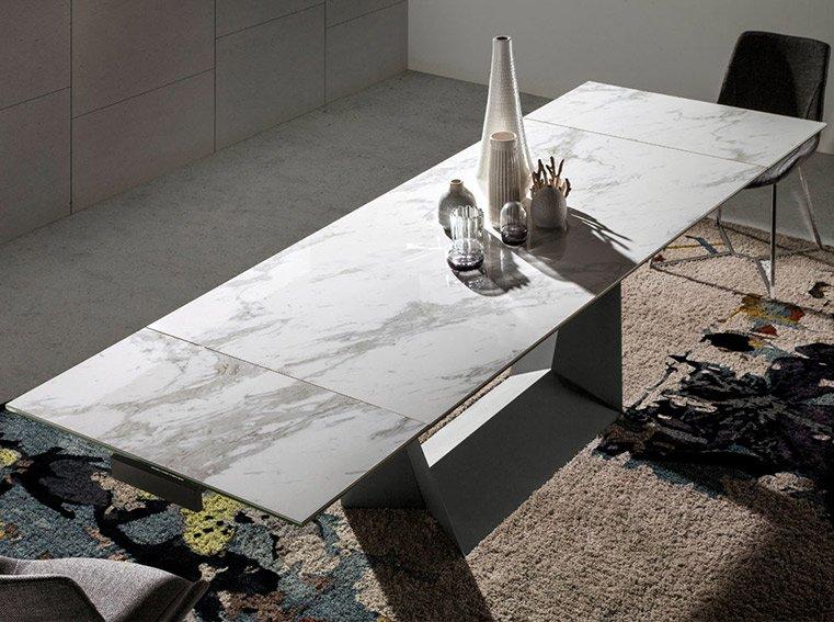Mesa de comedor extensible porcelánico Puskin