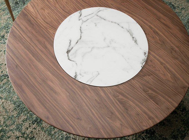 Mesa de comedor redonda nogal Zimara