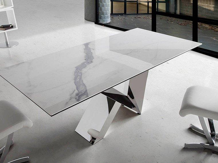 Mesa de comedor de diseño porcelánica Ruder