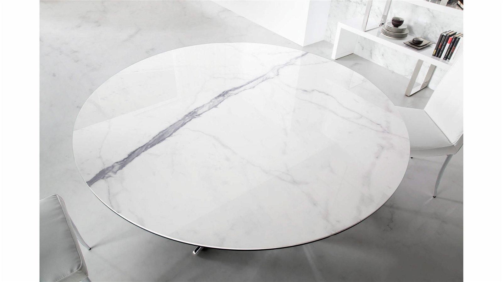 Mesa de comedor redonda porcelánico Xenon