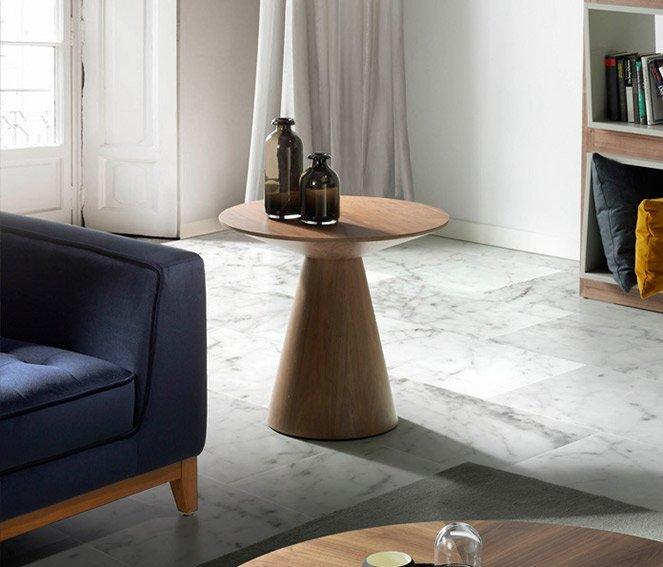 Mesa de rincón de diseño nogal Cervino