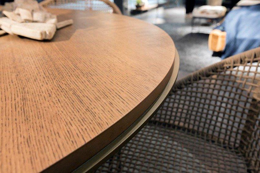 Mesa de comedor redonda industrial Loft Fusion