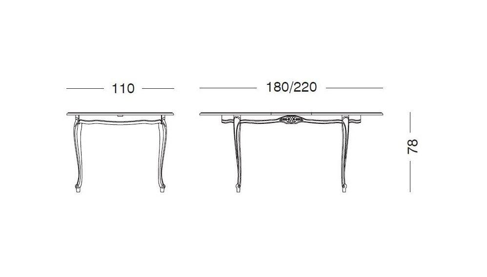 Mesa de comedor extensible oval blanco envejecido