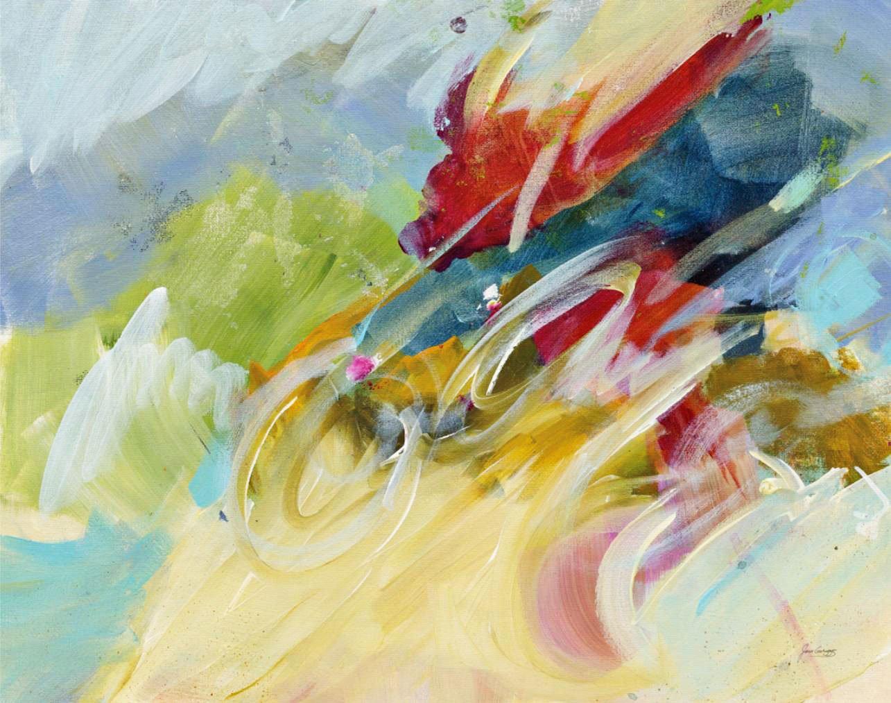 Cuadro canvas abstracto felicidad
