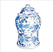Cuadro canvas jarron chino I