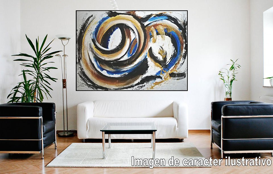 Cuadro pintura original waves