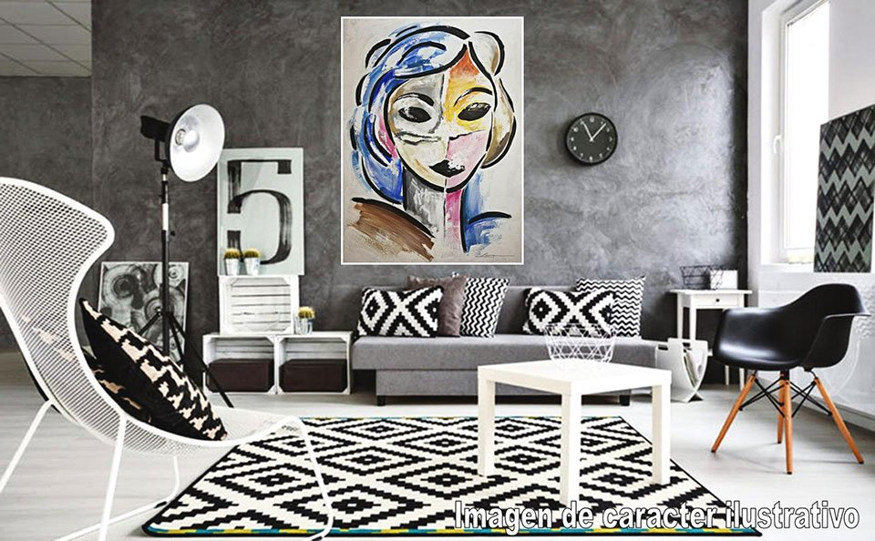 Cuadro pintura original dame