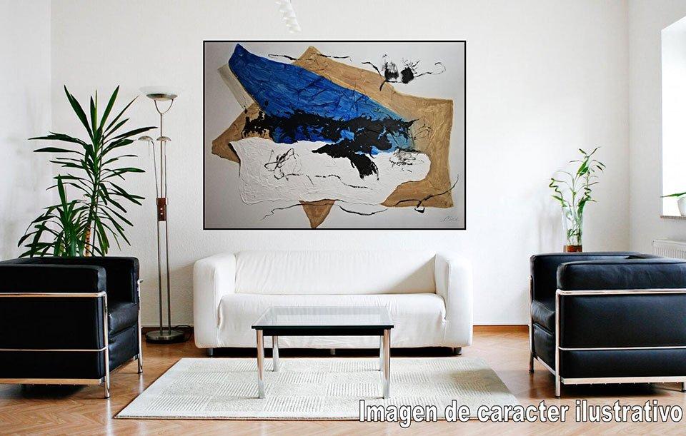 Cuadro pintura original blue moon