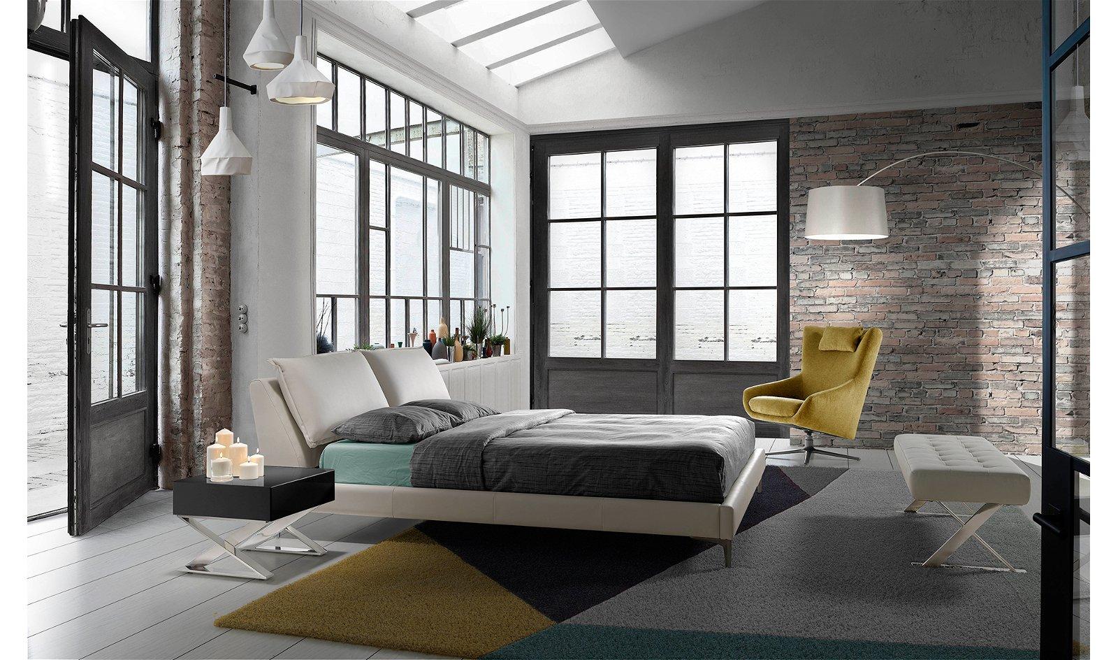 Cama moderna elevable tapizada Rinaldi para colchón 160x200