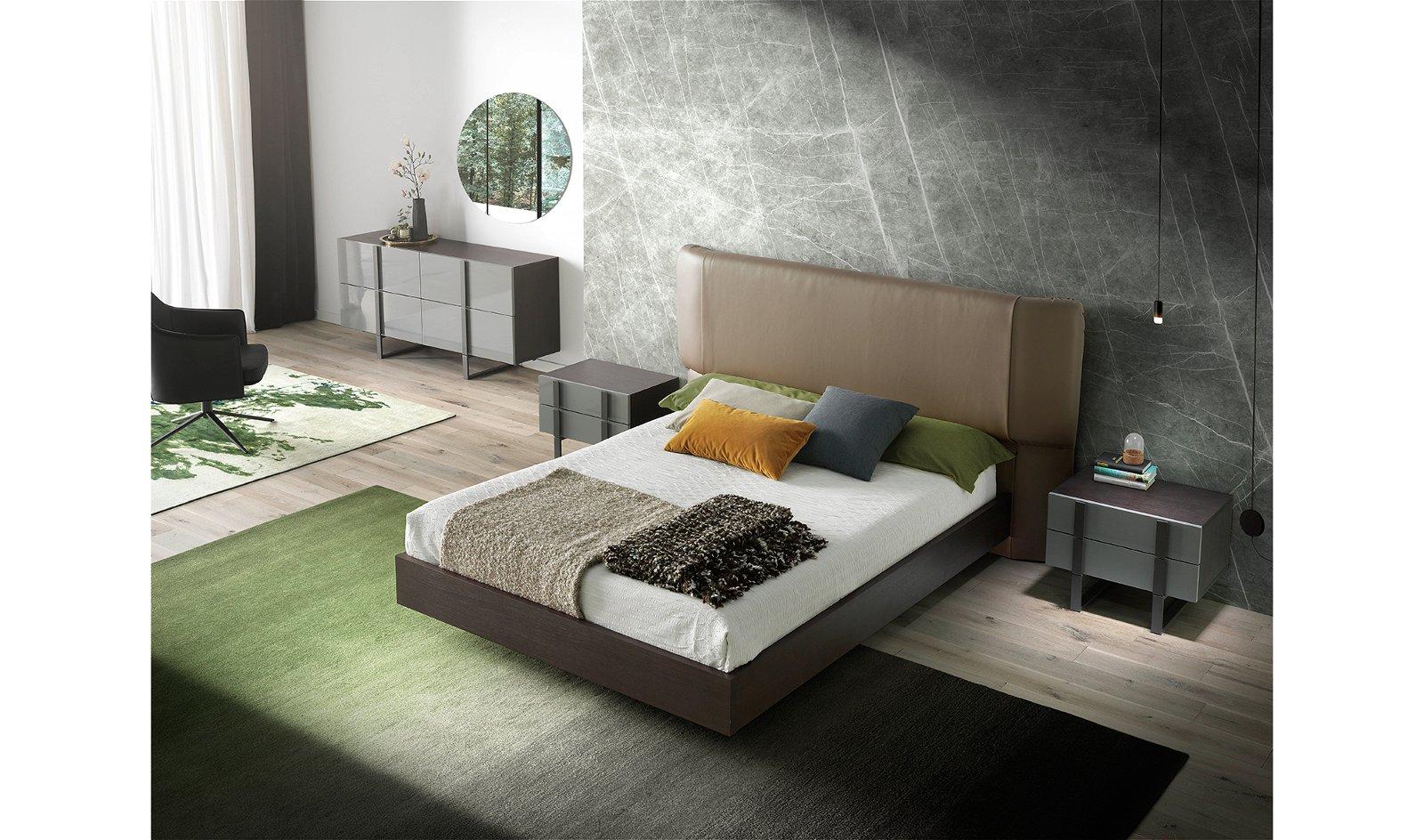 Mesa de noche lacada y acero moderna Chiara