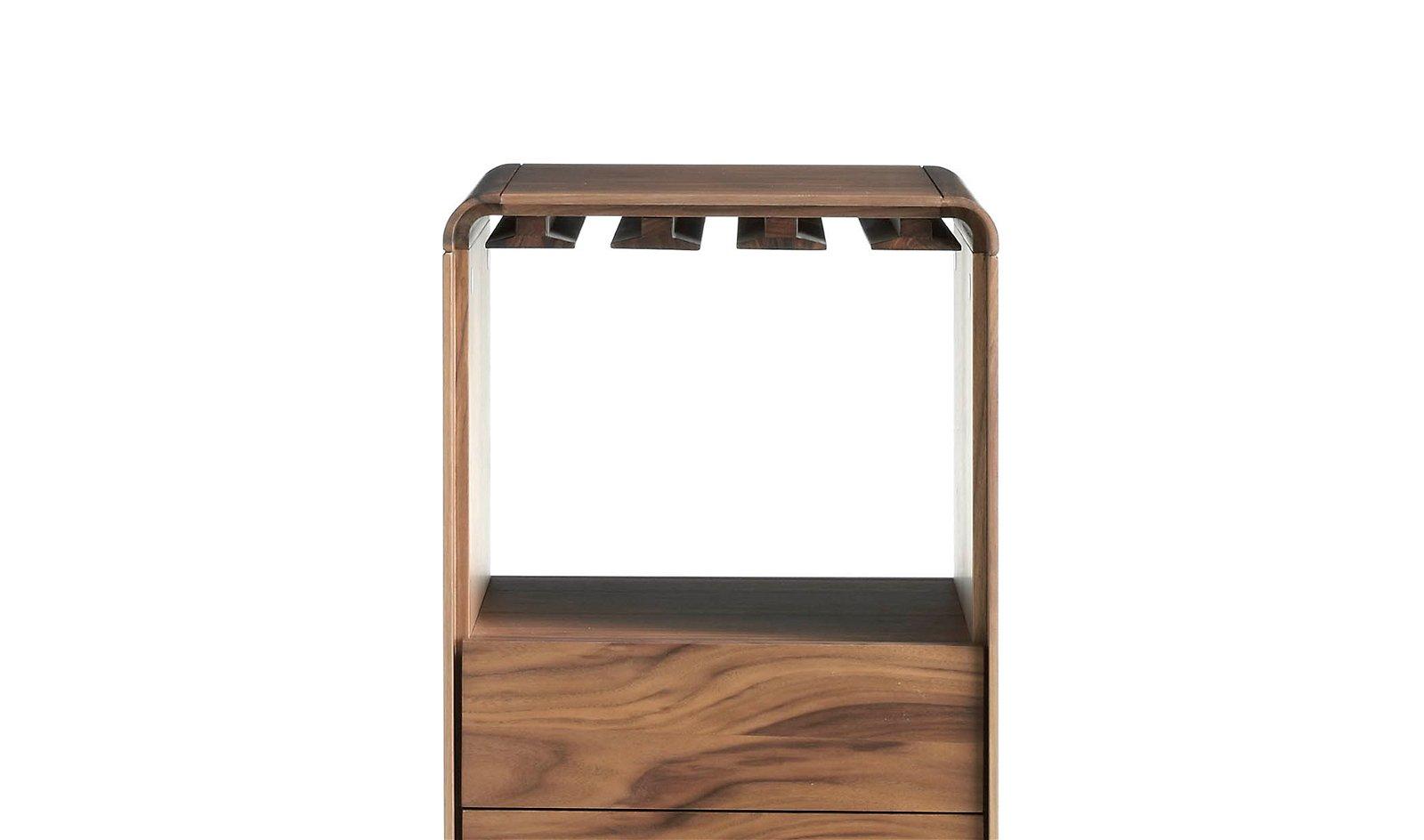 Mueble Bar moderno giratorio nogal Tomasso