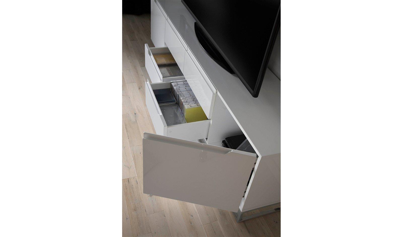Mueble tv moderno Lacado y acero Matteo