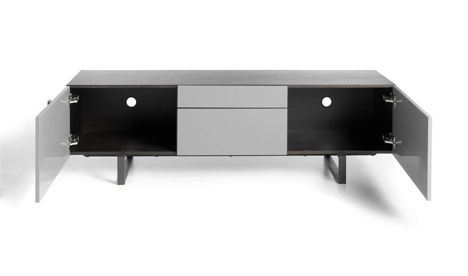 Mueble TV moderno roble y laca Enrico