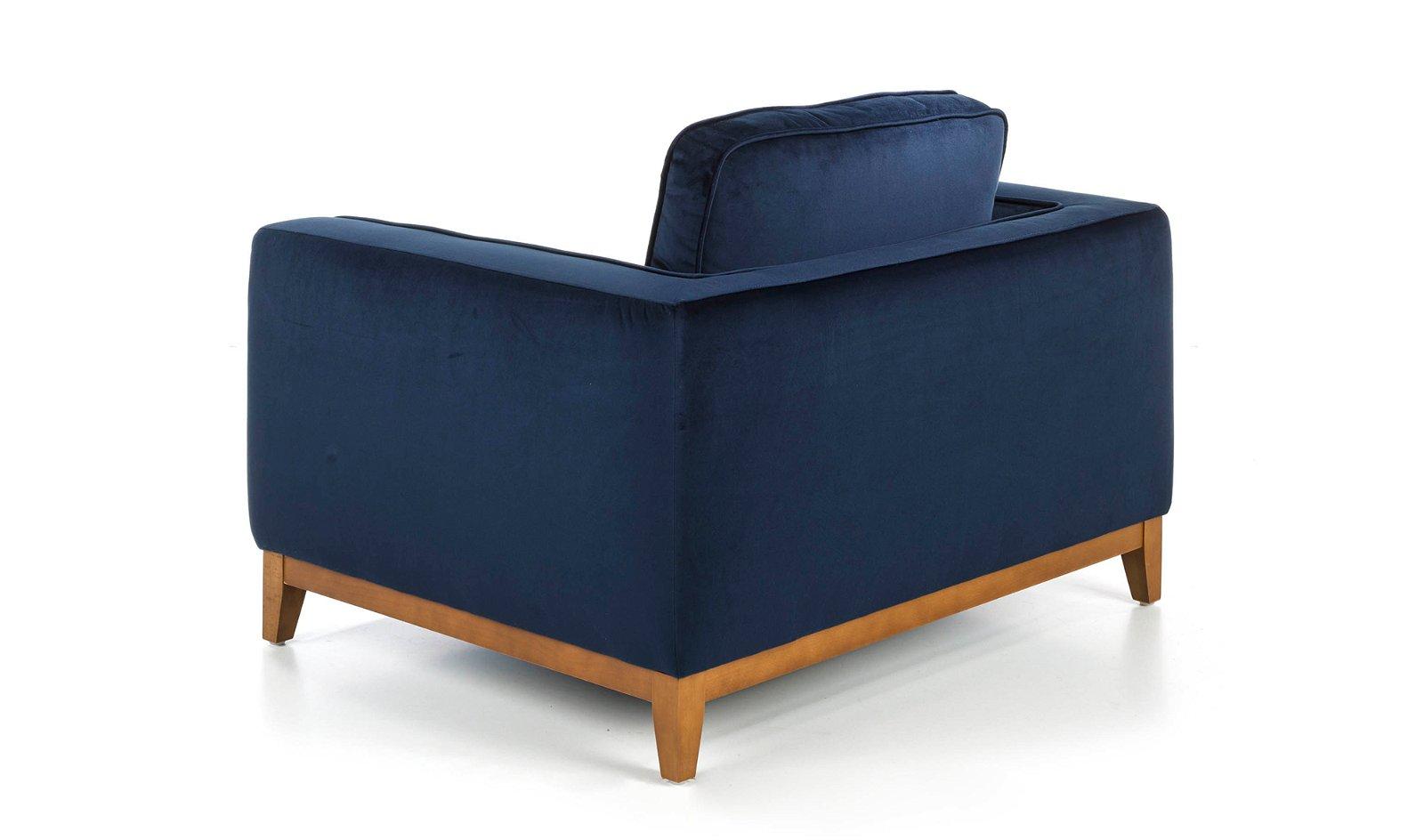 Butaca moderna nogal y tapizada Nivolet