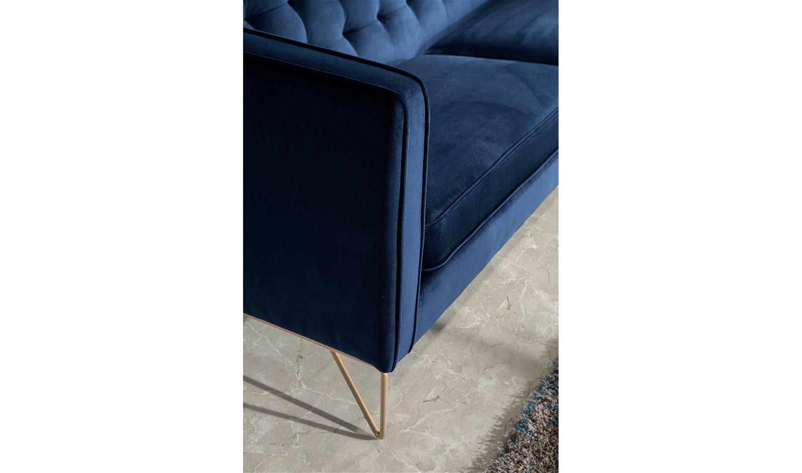 Butaca moderna tapizada y acero Triestino