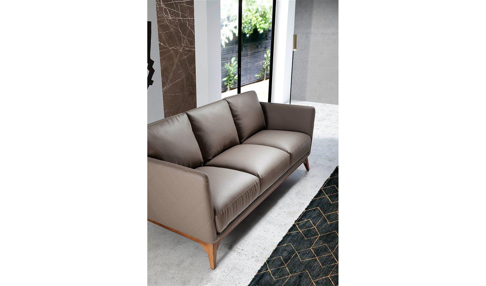 Sofá moderno nogal y piel Lavaredo