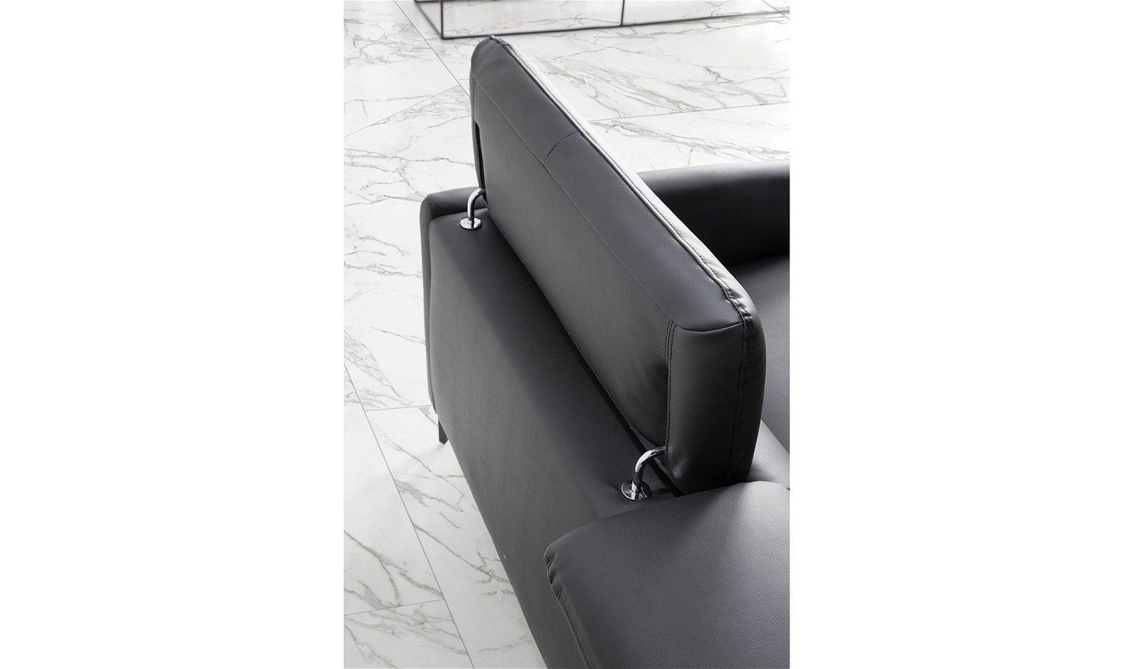 Sofá moderna piel y acero Atrani
