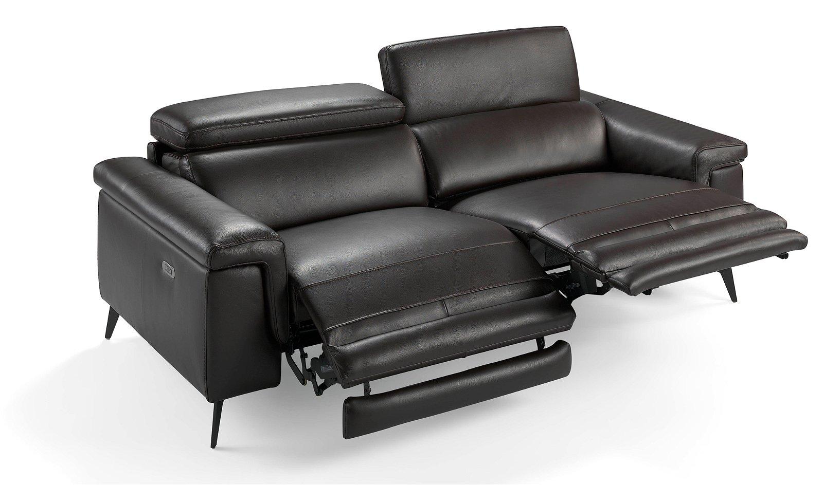 Sofá relax  moderno piel y abeto framura