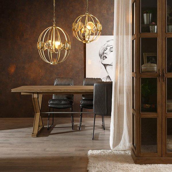 Mesa de comedor industrial 240 cms madera de mindi