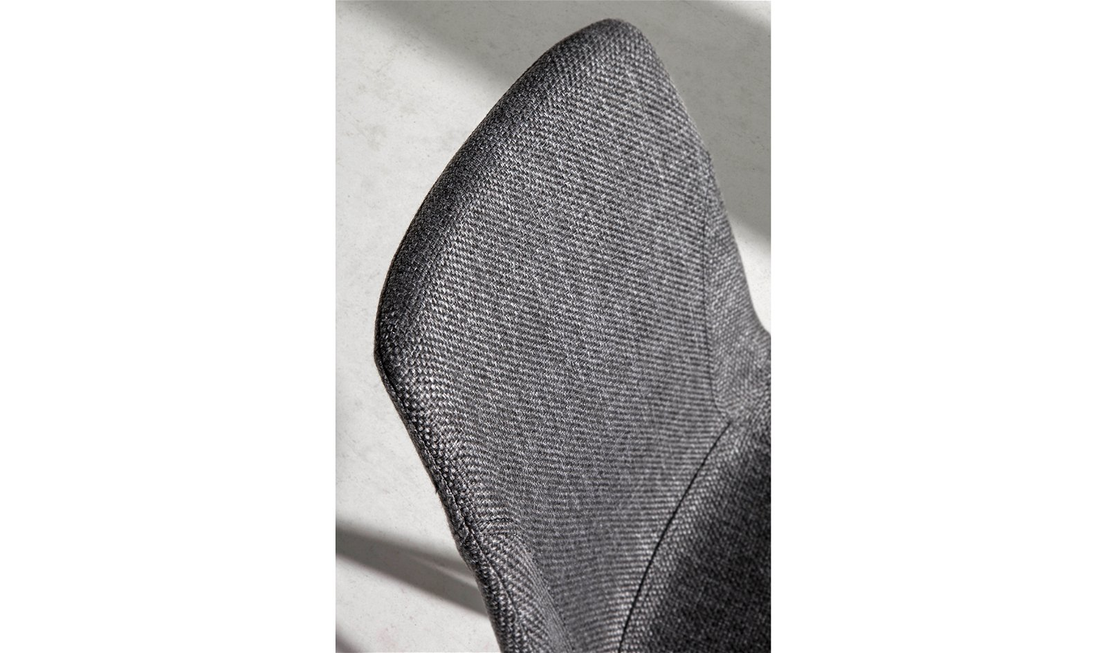 Silla moderna tapizada y acero Gratteri