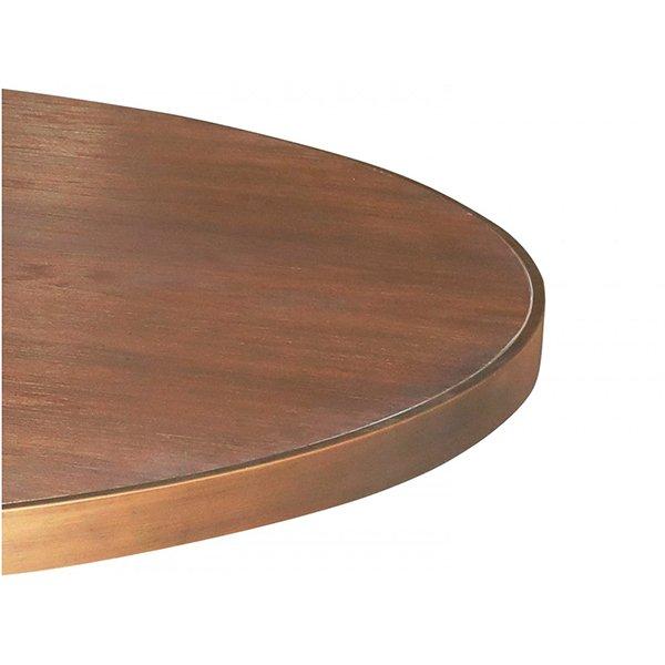Mesa de comedor redonda moderna nogal y metal Grasberg