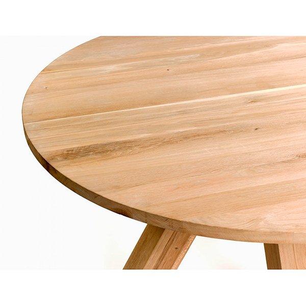 Mesa de comedor redonda nórdica roble Reine