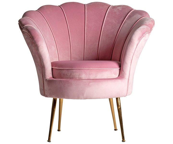 Butaca de diseño rosa Vantine